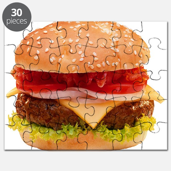 yummy cheeseburger photo Puzzle