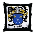 Schafer Coat of Arms Throw Pillow