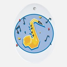 saxaphone and music notes cirlce copy.jpg Ornament