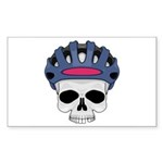 cycling skull copy.jpg Sticker (Rectangle 10 pk)