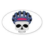 cycling skull copy.jpg Sticker (Oval 10 pk)