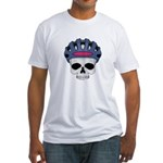 cycling skull copy.jpg Fitted T-Shirt