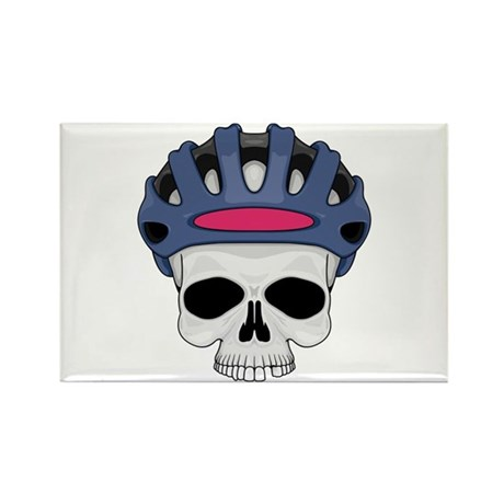 cycling skull copy.jpg Rectangle Magnet (100 pack)