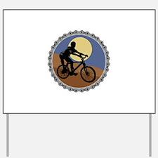 mountain biking chain design copy.jpg Yard Sign