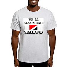 Flag of Sealand Ash Grey T-Shirt