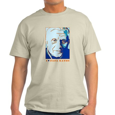 Papa Ratzi New Pope Benedict Blue Ash Grey T-Shirt