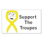 Support the Troupes (Small Bumper Sticker)