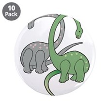"""two dinosaurs copy.jpg 3.5"""" Button (10 pack)"""