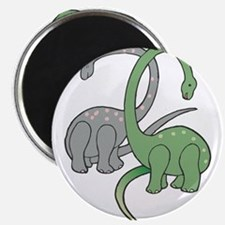 """two dinosaurs copy.jpg 2.25"""" Magnet (10 pack)"""