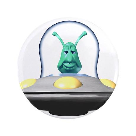 """3d alien in ufo copy.jpg 3.5"""" Button"""