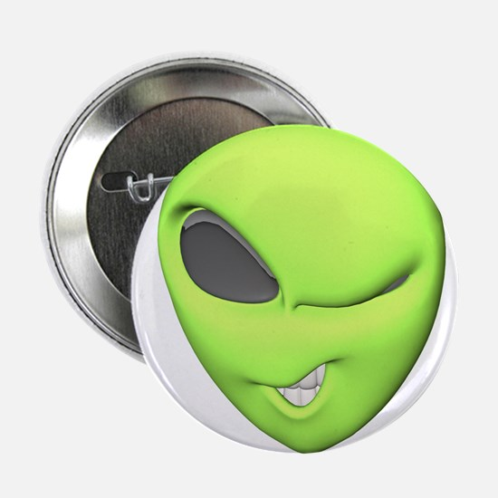 "3d winking alien.png 2.25"" Button"