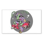 alien on scooter hoovercraft copy.jpg Sticker (Rec
