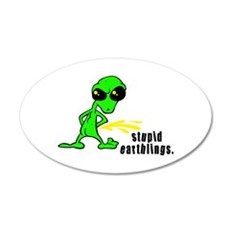 alien peeing copy.jpg Wall Decal