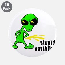 "alien peeing copy.jpg 3.5"" Button (10 pack)"