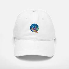 alien riding space board copy.jpg Baseball Baseball Cap