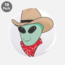 """cowboy alien copy.jpg 3.5"""" Button (10 pack)"""