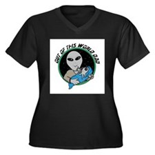 out of this world dad alien copy.jpg Women's Plus