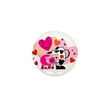 cow and pig valentine.jpg Mini Button (100 pack)