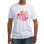 cute little cupid.jpg Fitted T-Shirt
