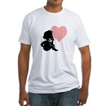 thinking of love.jpg Fitted T-Shirt