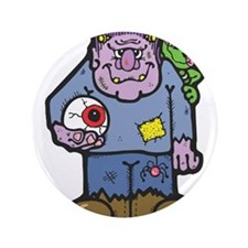 "frankenstein and frog copy.png 3.5"" Button"