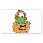 frog in pumpkin copy.png Sticker (Rectangle 10 pk)