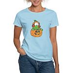 frog in pumpkin copy.png Women's Light T-Shirt