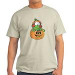 frog in pumpkin copy.png Light T-Shirt