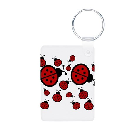 Lady Bugs Aluminum Photo Keychain