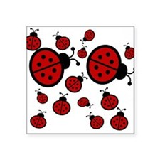 "Lady Bugs Square Sticker 3"" x 3"""