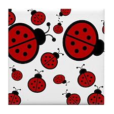 Lady Bugs Tile Coaster