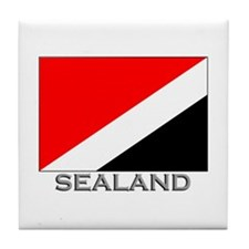 Sealand Flag Stuff Tile Coaster
