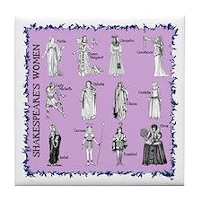 Shakespeare's Women Square Tile Coaster