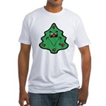 cute happy christmas tree.png Fitted T-Shirt