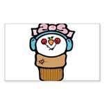 cute little girl snow cone.png Sticker (Rectangle