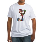 cute playful christmas elves.png Fitted T-Shirt