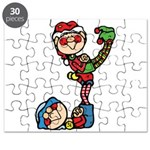 cute playful christmas elves.png Puzzle