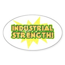 Industrial Strength Retro Dis Oval Decal