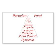 Peruvian Food Pyramid Decal