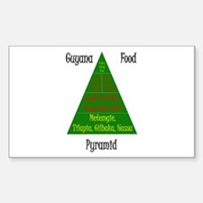 Guyana Food Pyramid Sticker (Rectangle)