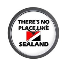 There Is No Place Like Sealand Wall Clock