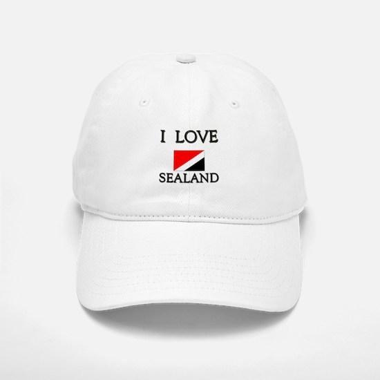 I Love Sealand Baseball Baseball Cap