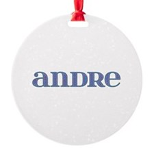 Andre Blue Glass Ornament