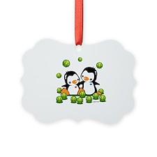 Tennis Penguins Ornament