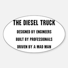 The Diesel Truck Sticker (Oval)