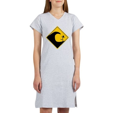 Tsunami Warning Women's Nightshirt