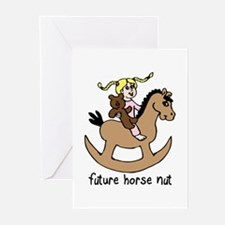 cute future horse nut Greeting Cards (Pk of 10
