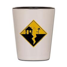 Earthquake Warning Shot Glass