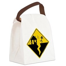 Earthquake Warning Canvas Lunch Bag