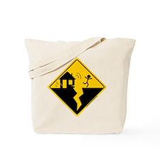 Earthquake Warning Tote Bag